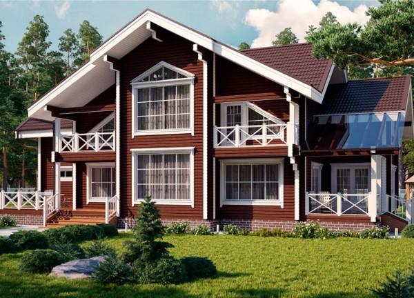 Дома из дерева площадью свыше 200 м2