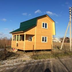 Каркасный дом 6х5 с открытой террасой