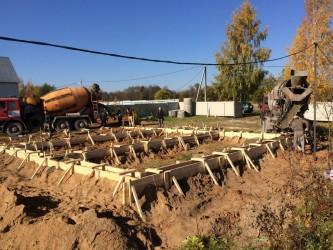Заливка фундамента в Клинском районе