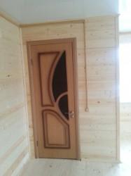 Двери деревянные межкомнотные монтаж