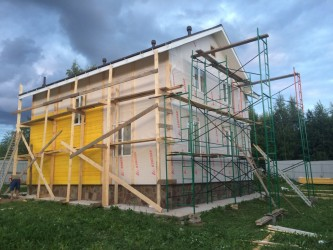 Отделка дома имитацией бруса в Солнечногорске