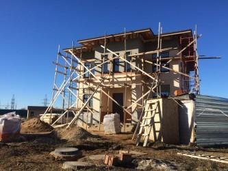 Отделка фассадов домов из пеноблока в Клину